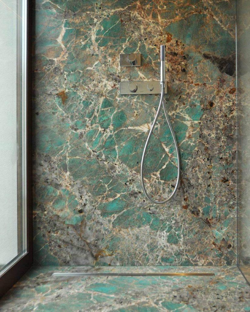 amazzonite verde - arredo bagno