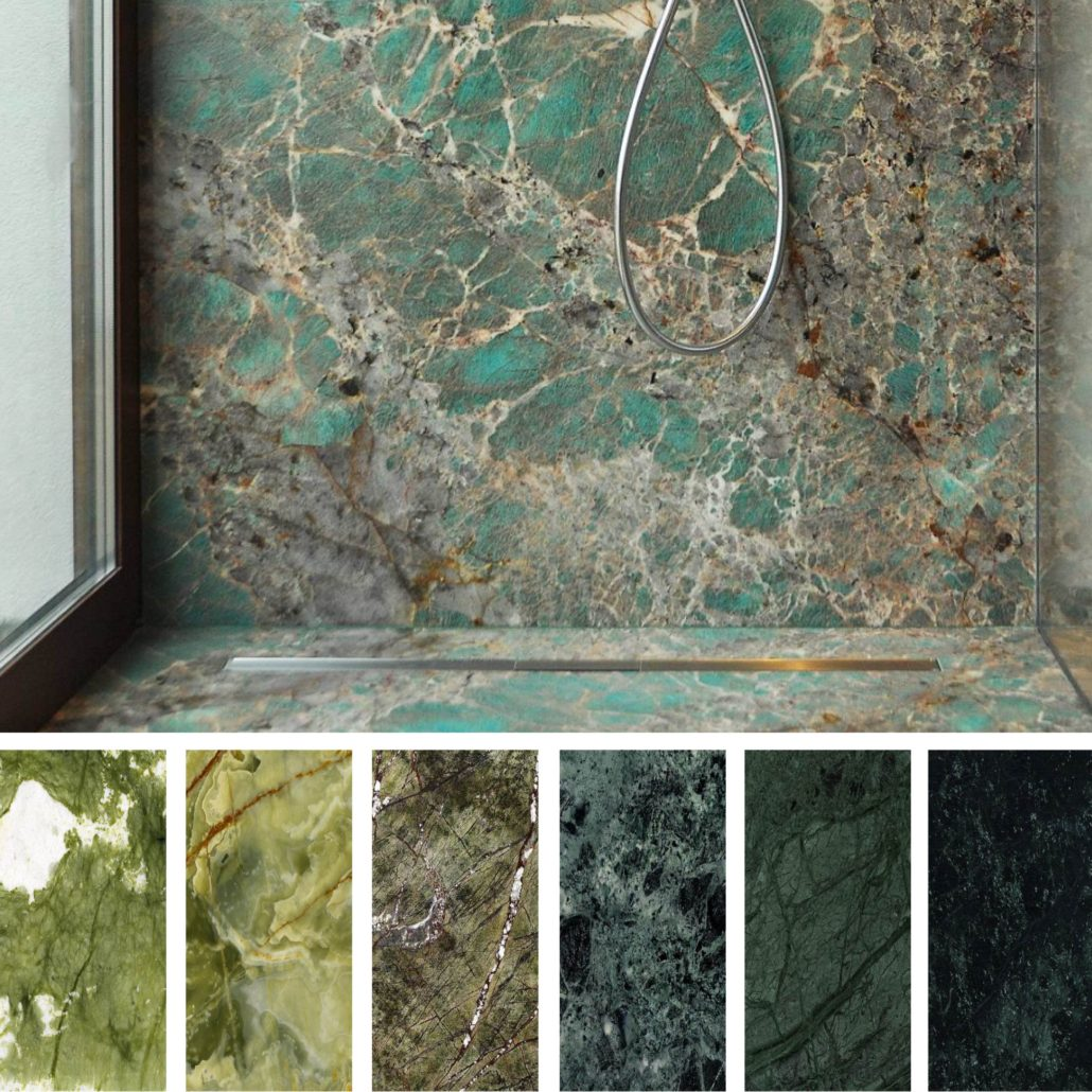 Greenery Trend: Green Marbles And Granites In Interior Design