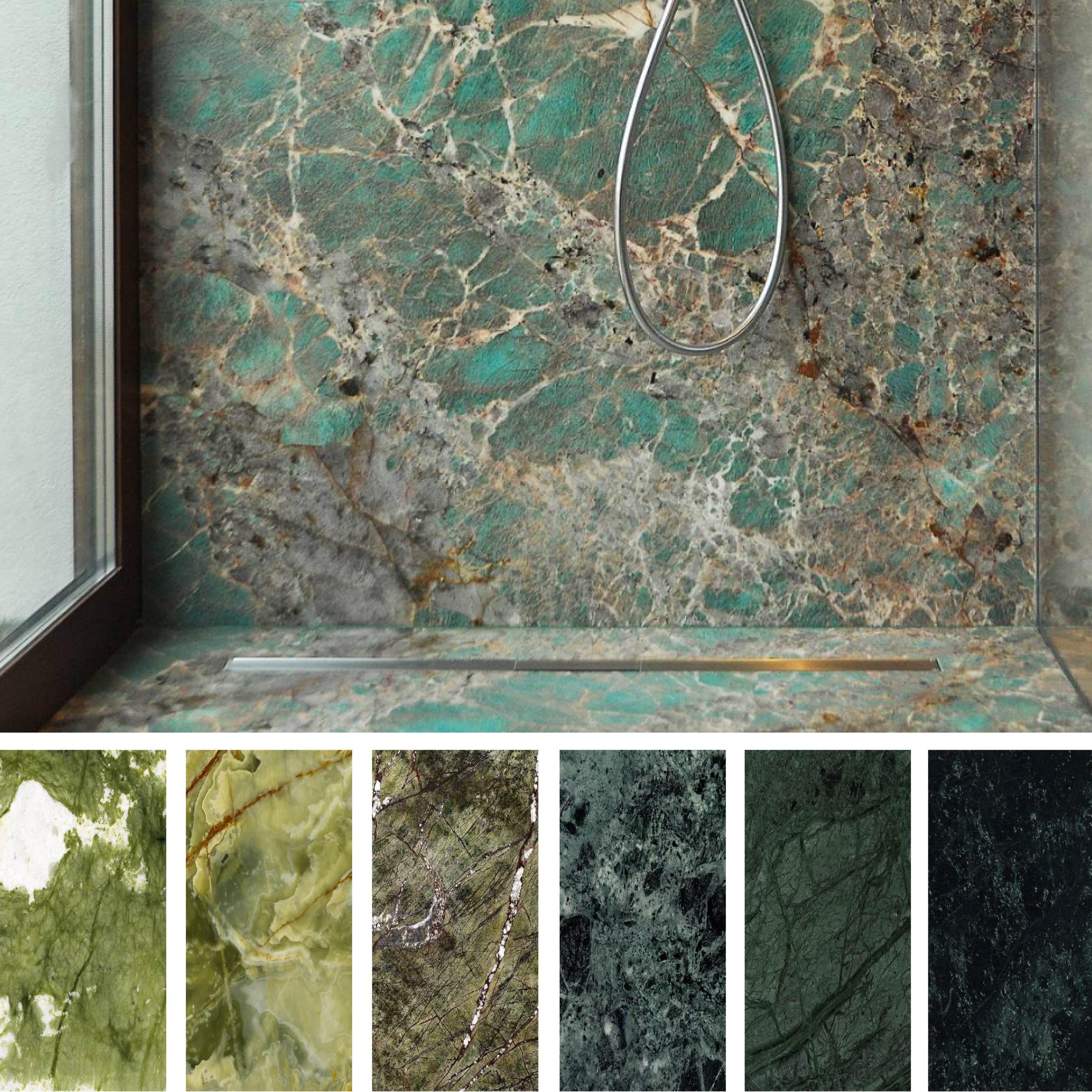 Aqua Mobili Da Bagno.Greenery Trend Green Marbles And Granites In Interior Design