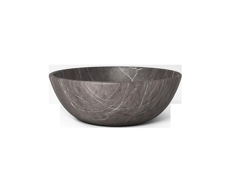 round circle pietra grey